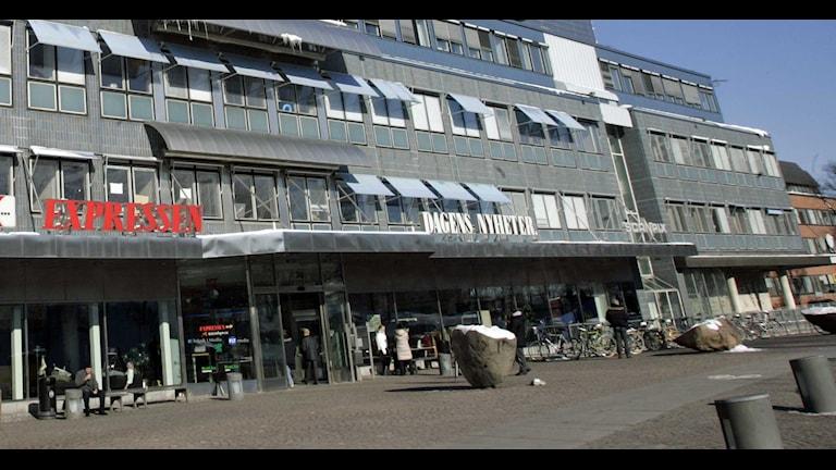 Dagens Nyheters och Expressens hus på Marieberg i Stockholm. Foto: Bertil Ericson/TT.