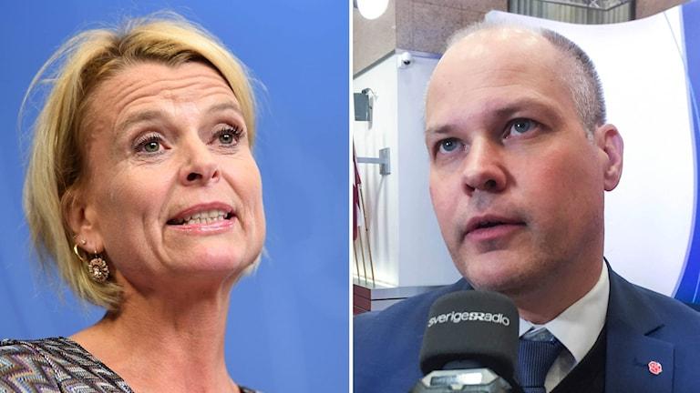 Barn, äldre- och jämställdhetsminister Åsa Regnér och justitieminister Morgan Johansson