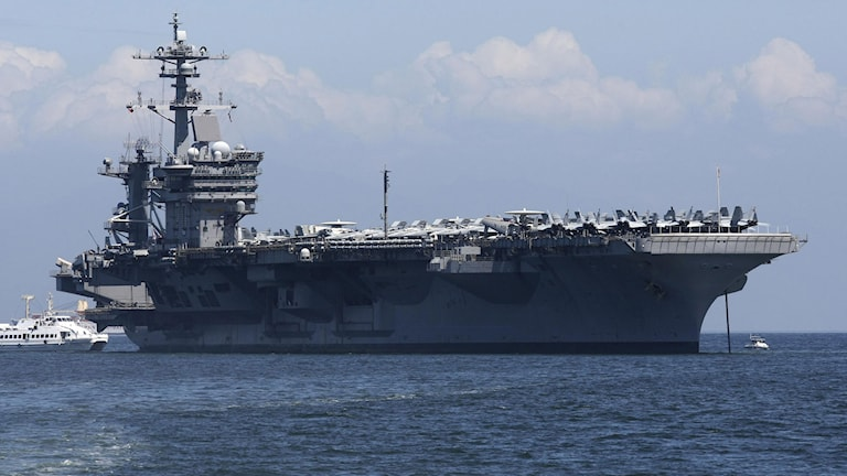 Hangarfartyget USS Carl Vinson. Foto: Bullit Marquez/TT