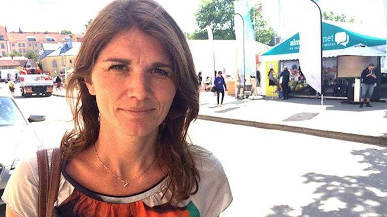 Jenny Madestam, statsvetare vid Stockholms universitet. Foto: Dimitri Lennartsson/Sveriges Radio.
