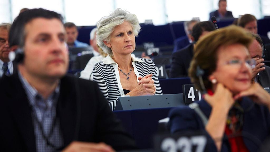 Anna-Maria Corazza Bildt (M) i EU-parlamentet i Strasbourg