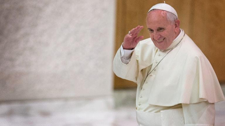 Påven Franciskus. Foto: TT