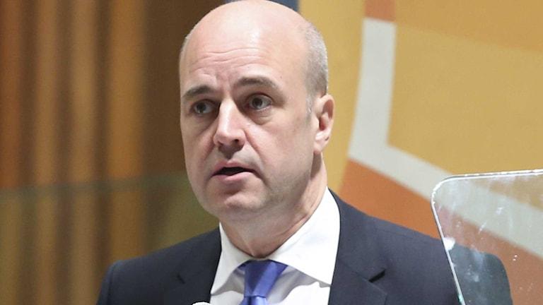 Fredrik Reinfeldt talade vid klimatmötet i New York.