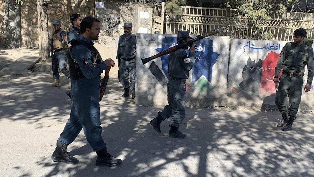 Skottlossning på Kabuls universitet