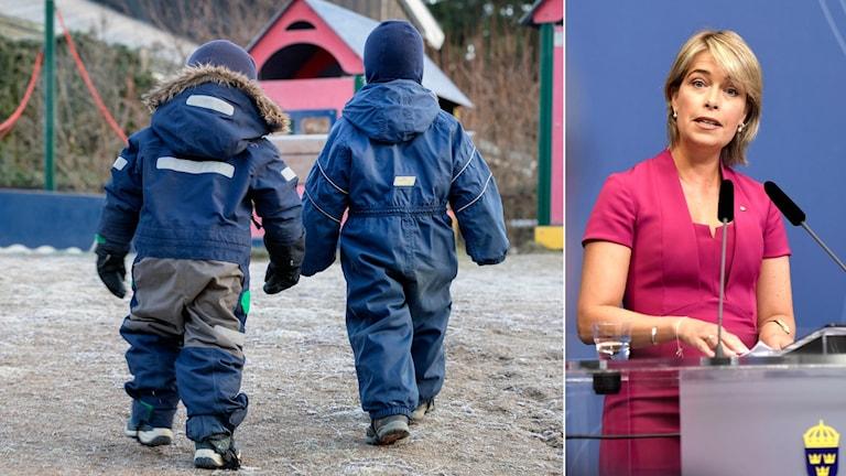 barn på lekplats, Annika Strandhäll