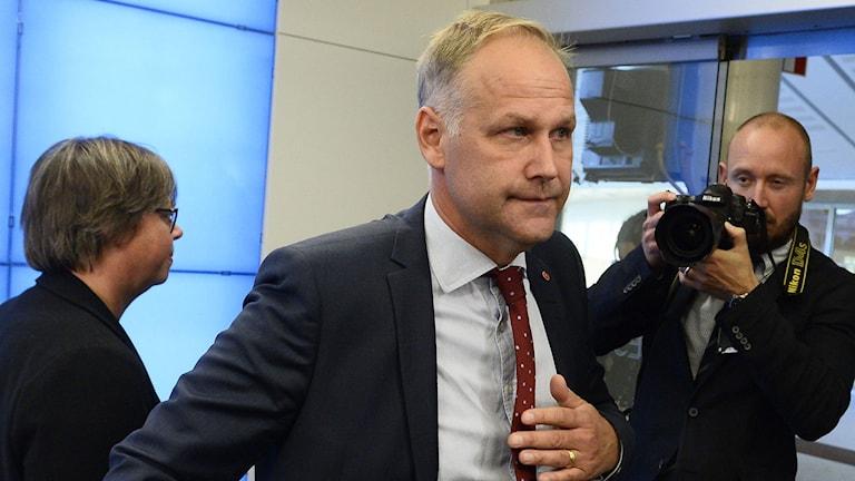 Vänsterpartiets partiledare Jonas Sjöstedt. Foto: Claudio Bresciani/TT.
