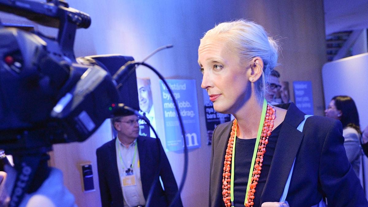 Från Sveriges Radios studio i Riksdagen: Sofia Arkelsten, riksdagsledamot, Moderaterna. (Arkivbild)