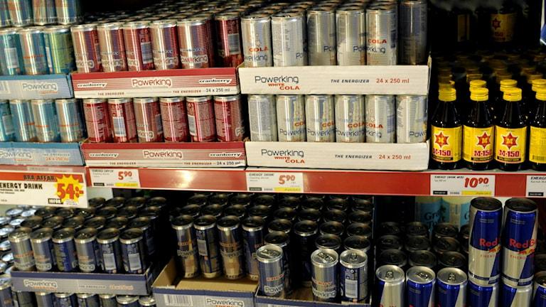 Energidrycker kan komma att få en maxgräns för koffein. Foto: Janerik Henriksson/TT
