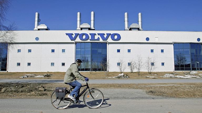 Volvo lastvagnar i Umeå informerar om Volvos nya varsel under en presskonferens i Umeå. Foto: Rolf Höjer / SCANPIX / TT.