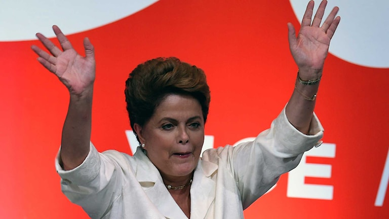 Brasiliens omvalda president Dilma Rouseff. Foto: Evaristo Sa/TT.