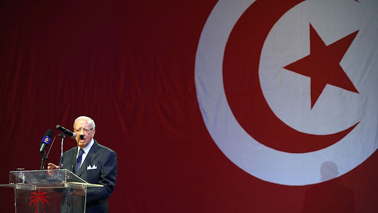 Nida Tounes partileadare Beji Caid Essebsi. Foto: FETHI BELAID/TT