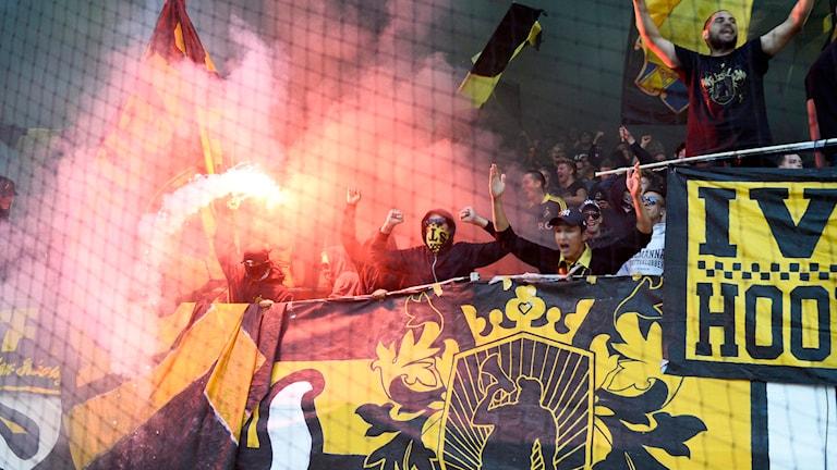 Det bör vara förbjudet att maskera sig på svenska arenor, anser förre rikspolischefen Björn Eriksson. Foto: Maja Suslin/TT