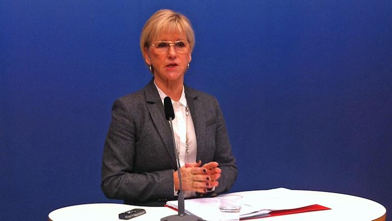 Margot Wallström. Sawirle: My Rohwedder/Sveriges Radio.