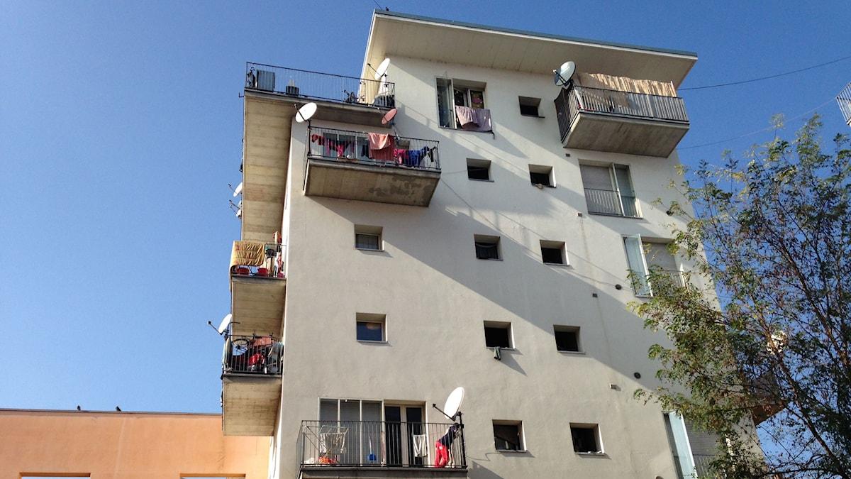 Den gamla OS-byn i Turin i Italien där flyktingar nu bor