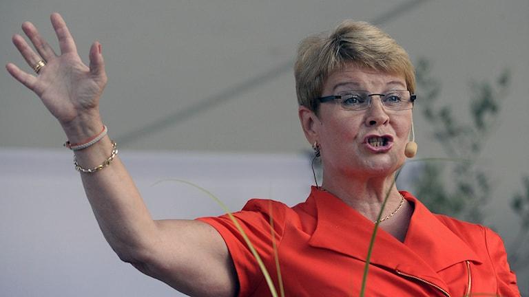 Den tidigare partiledaren för Centerpartiet, Maud Olofsson, ingår numer i Hillary Clintons internationella råd för kvinnligt ledarskap. Foto: Janerik Henriksson / TT.
