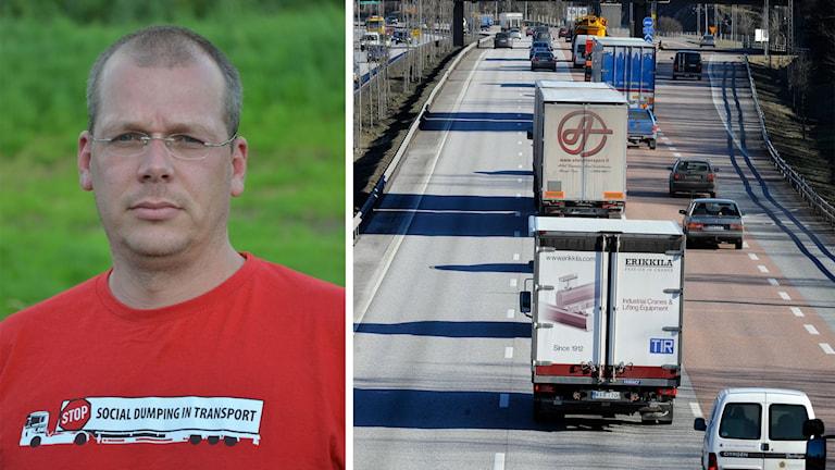 Edwin Atema, holländska transportarbetarförbundet FNV Bondgenoten ansvarar för bekämpningen av social dumpning. Foto: TT
