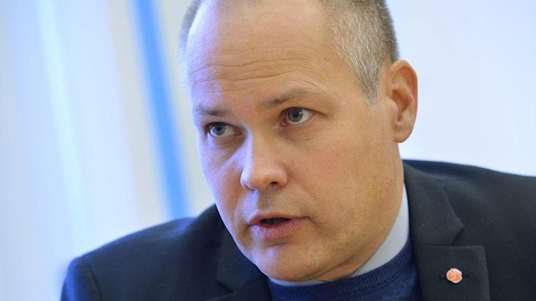 Justitieminister Morgan Johansson. Foto: Henrik Montgomery/TT.