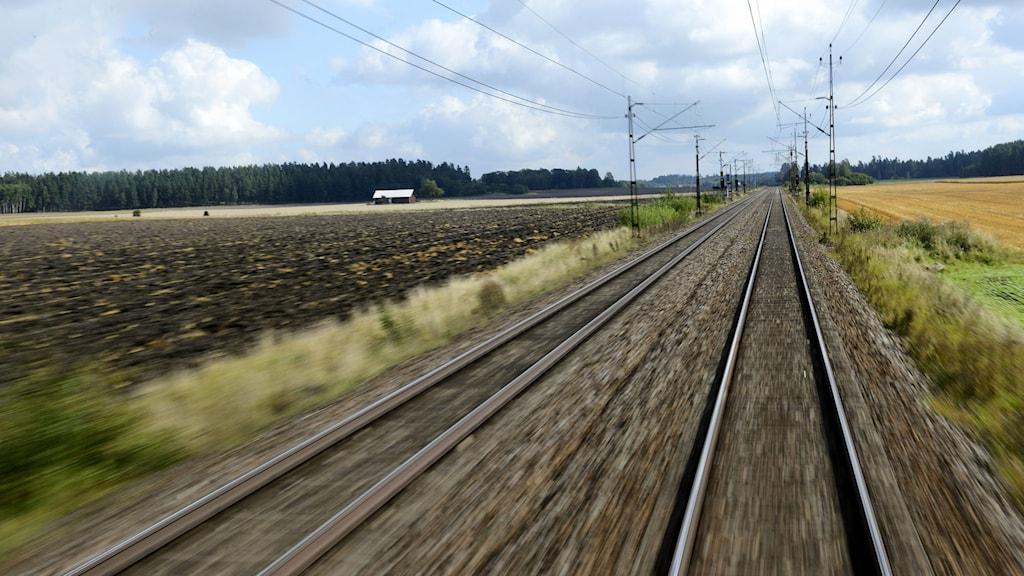 Järnvägsspår. Foto: Henrik Montgomery/TT.