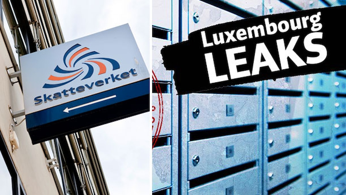 Delad bild: Skatteverkets logga och Luxemburg Leaks. Bild: Magnus Ladulåsgatan/TT samt Tim Meko/Shutterstock.