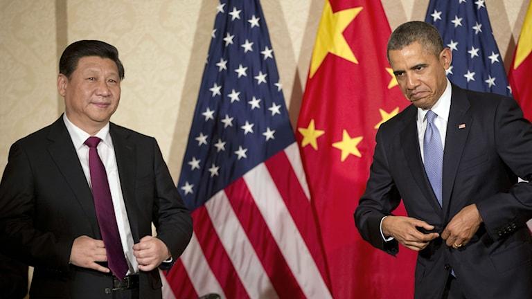 Xi Jinping och Barack Obama. Foto: Pablo Martinez Monsivais/TT.