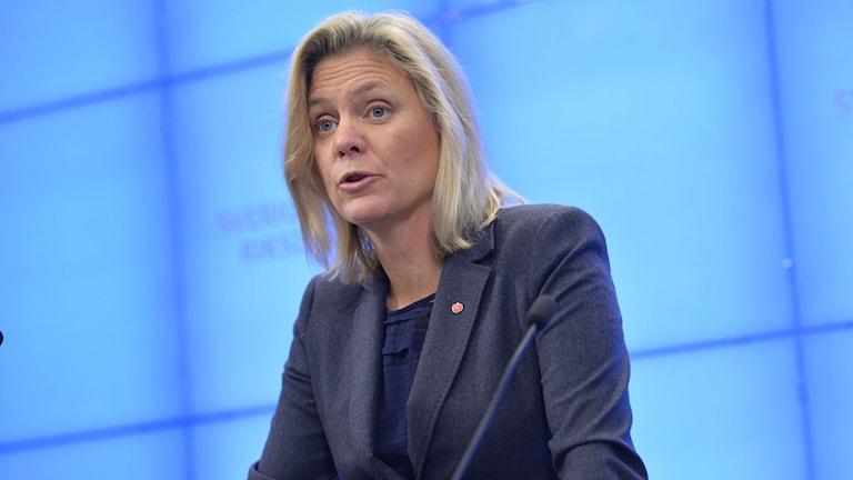 Finansminister Magdalena Andersson. Foto: Henrik Montgomery/TT.