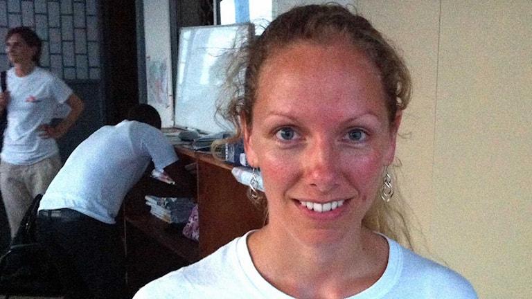 Katy Atersuch är kommunikationschef på Läkare utan gränser. Foto: Margareta Svensson/Sveriges Radio