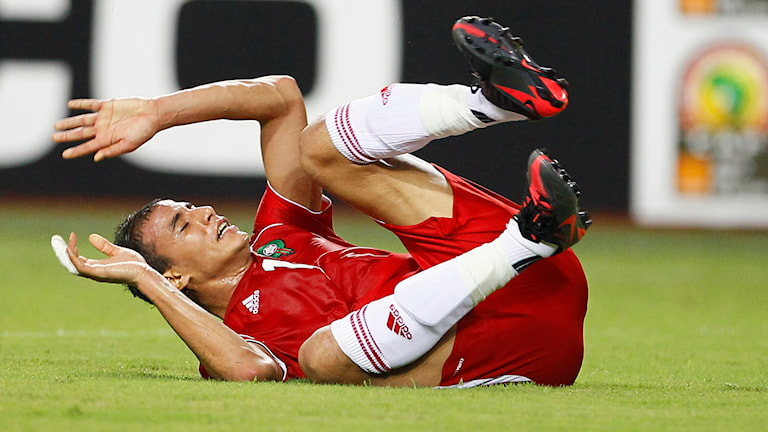 Maroane Chamakh, anfallare i Marockos landslag, kommer inte att kunna siktas under Africas cup of nation eftersom hans landslag portas från turneringen. Foto: TT