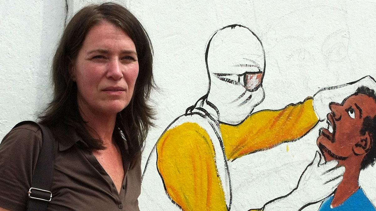 Margareta Svensson besöker det eboladrabbade Liberia. Foto: Sveriges Radio