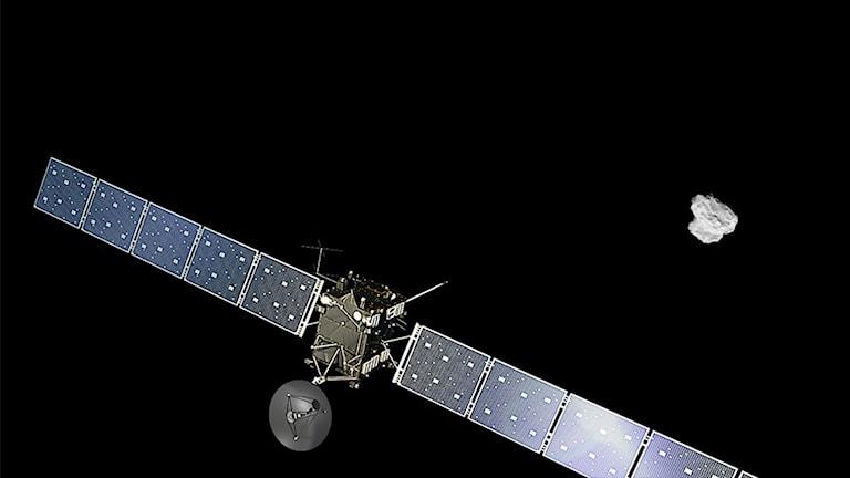 """Chanserna att landningen lyckas beskrivs som """"50-50"""". Foto: ESA."""