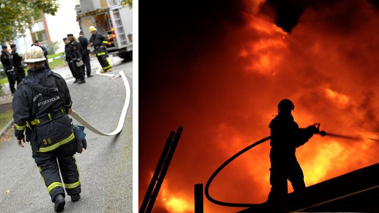 Brandmän. Foto: TT