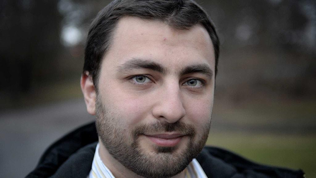 Omar Mustafa,  ordförande för Islamiska förbundet i Sverige. Foto: Jessica Gow/TT.