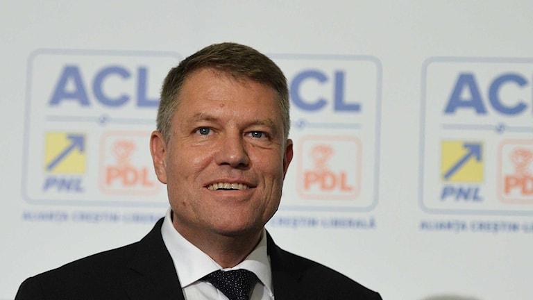 Klaus Iohannis vann det rumänska presidentvalet. Foto: Andreea Alexandru/TT