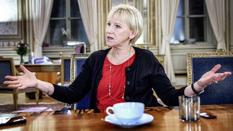 Margot Wallström is the Social democrat foreign minister of Sweden. Photo: Tomas Oneborg/TT