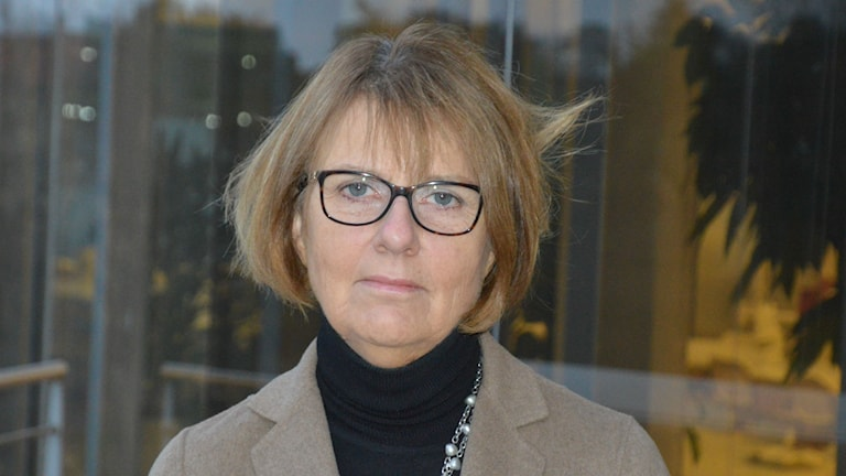 Eva Fernvall, kommunikationsdirektör Apoteket AB. FOto: Maria Repitsch/Sveriges Radio