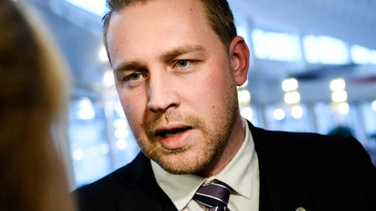 Sverigesdemokraternas tillförordnade partiledare Mattias Karlsson
