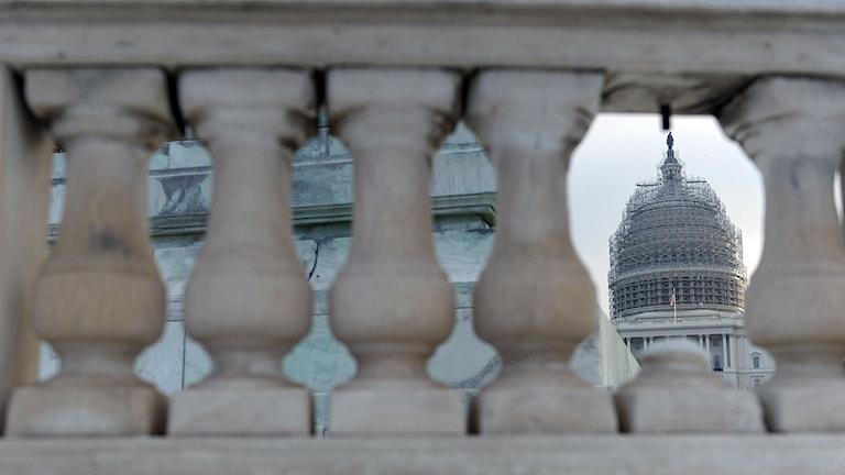 Vy över Kapitolium i Washington. Foto: Brendan Smialowski/TT.