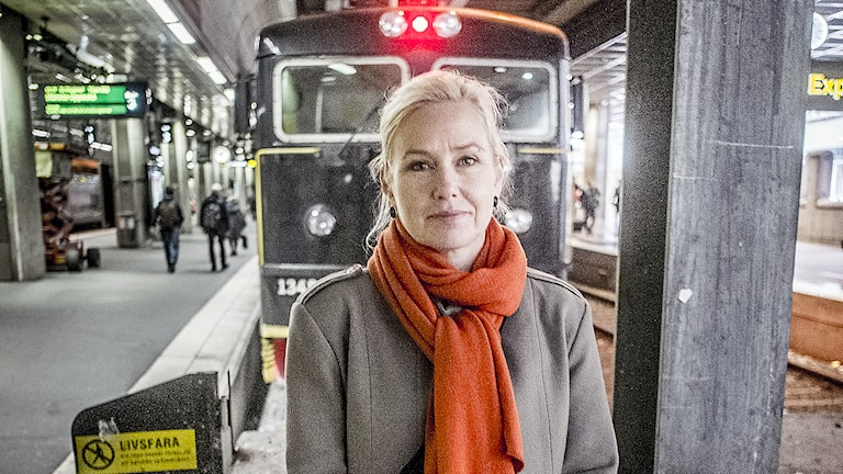 Infrastrukturminister Anna Johansson (S) på Centralstationen i Stockholm. Foto: Magnus Hjalmarson Neideman / SvD / TT.
