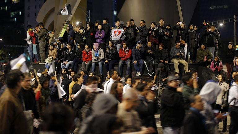 Demonstration i Mexiko City. Foto: Dario Lopez-Mills/TT.