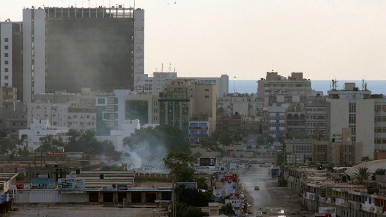 Staden Benghazi i östra Libyen. Foto: Mohamed el-Sheikhi/TT.