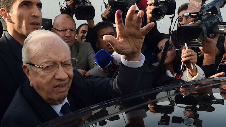 Beji Caid Essebsi, tunisisk presidentkandidat. Foto: Fethi Belaid/TT.