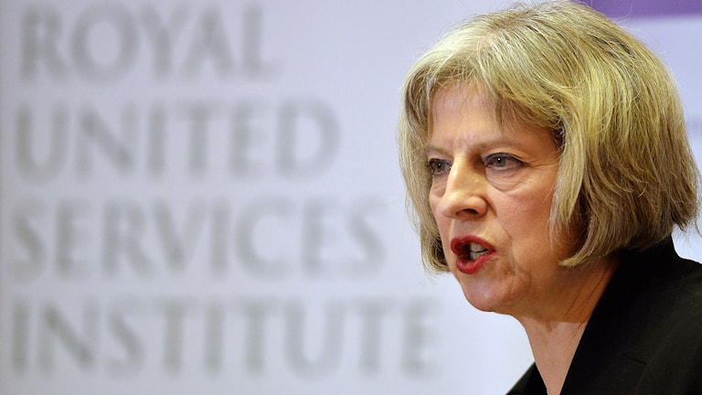 Theresa May, Storbritanniens inrikesminister. Foto: TT