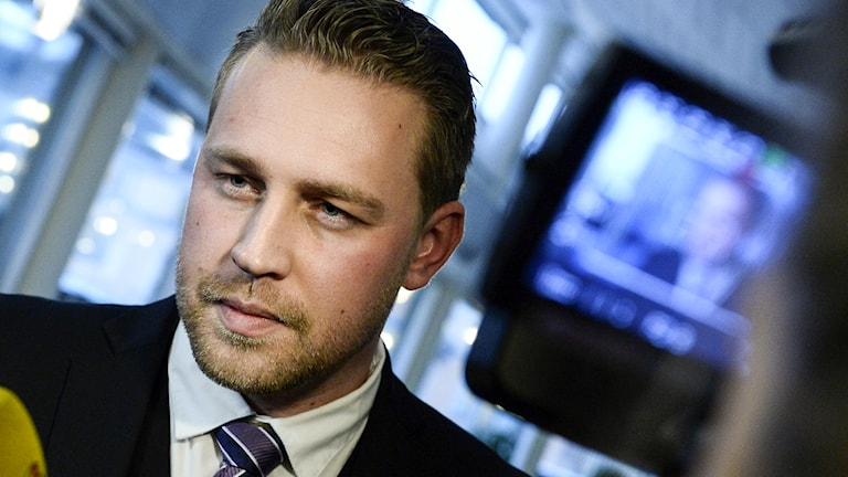 Mattias Karlsson, tillförordnad partiledare SD