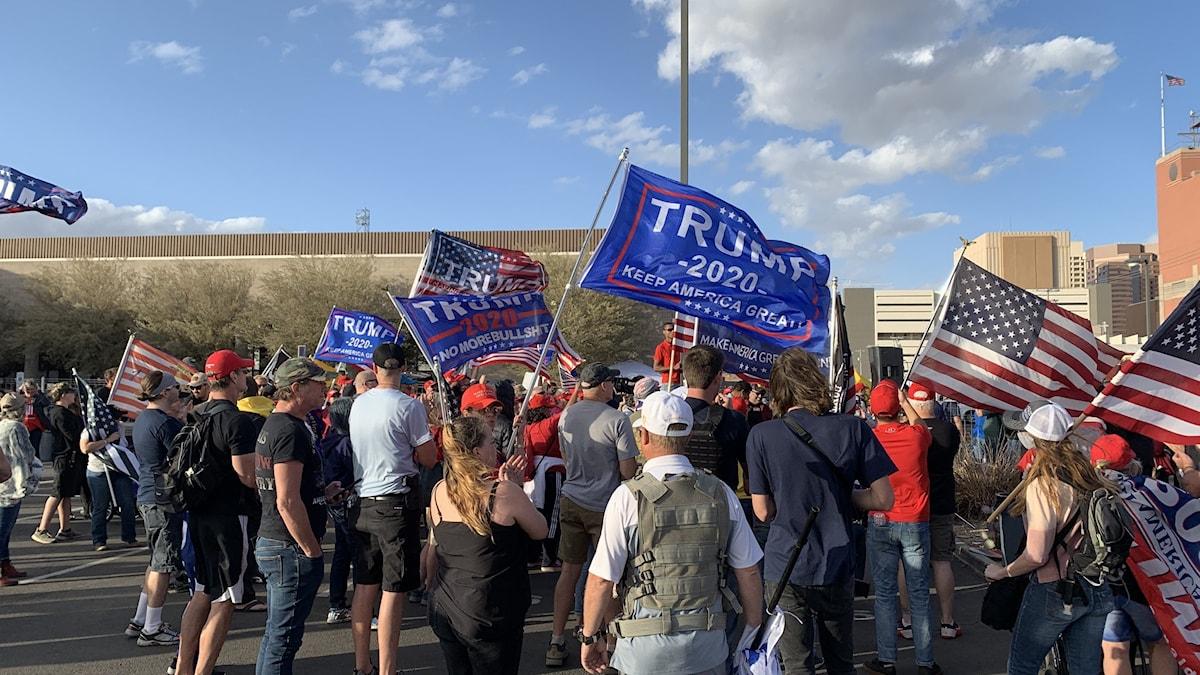 Trumpsupportrar i Phoenix, Arziona.