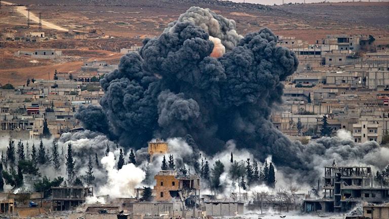 Staden Kobane i Syrien. Foto: TT