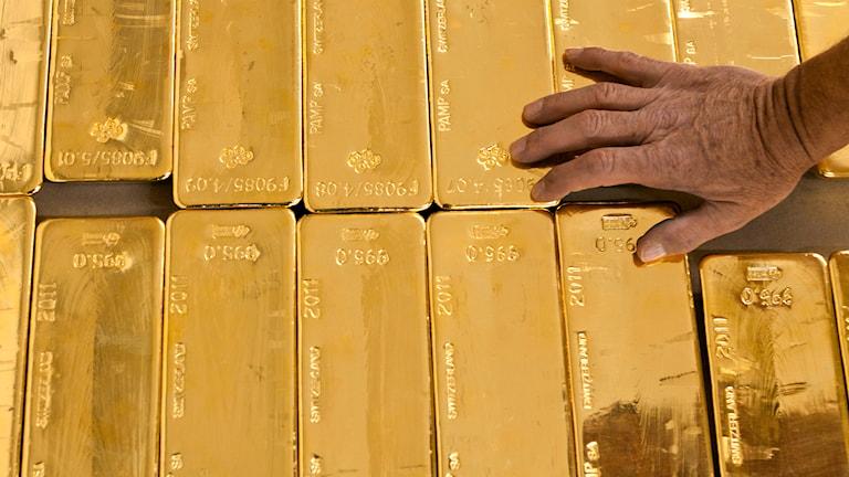 Guld vid Kantonalbanken i Zürich. Foto: TT