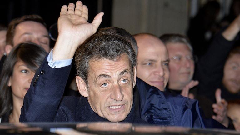 Frankrikes tidigare president Nicolas Sarkozy. Foto: Miguel Medina/TT.