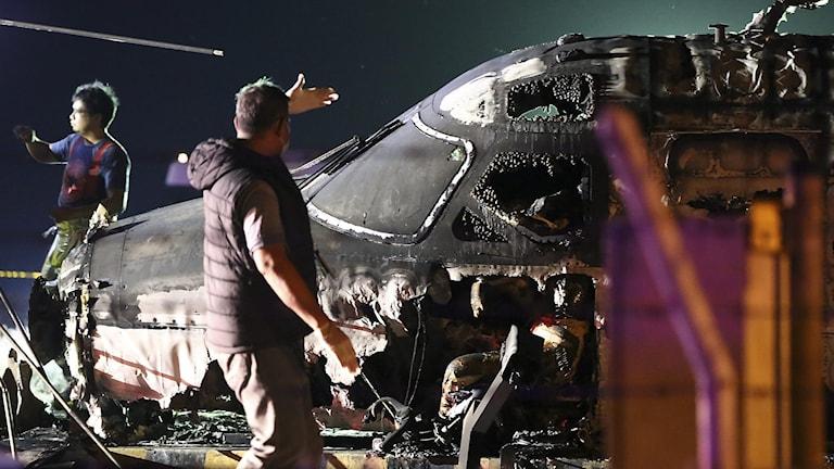 Ett flygplan har kraschat i Manila.