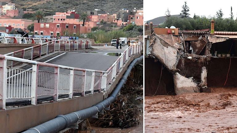 Rasad bro och hus i Marocko.