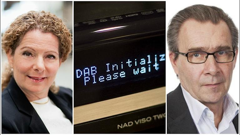 Cilla Benkö, en Dab-radio och Mats Åkerlund.