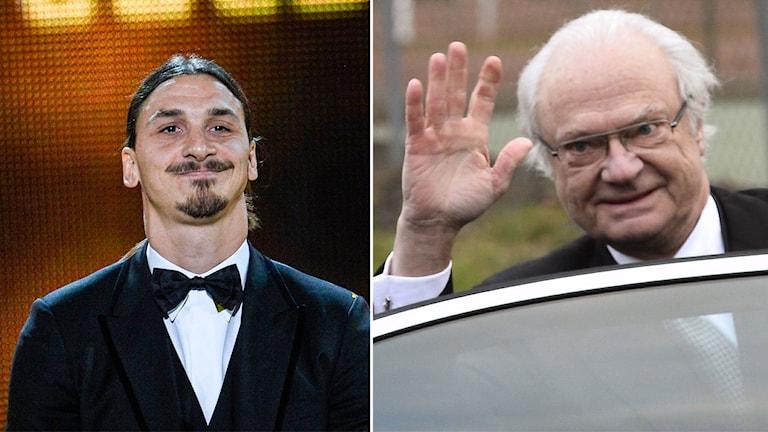 Schwedens Fußballkönig Zlatan und König Carl Gustaf werden sich in Paris treffen (Foto: TT)